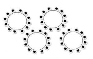 Dineropstelling met ronde tafels